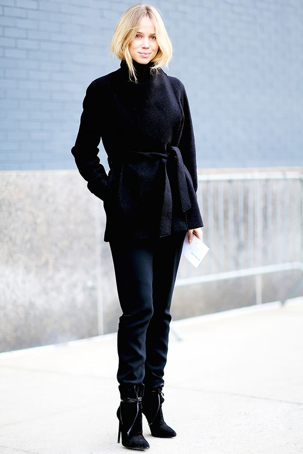 sophisticated black outfit