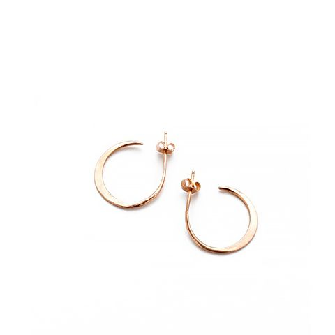 Crescent Moon Hoops