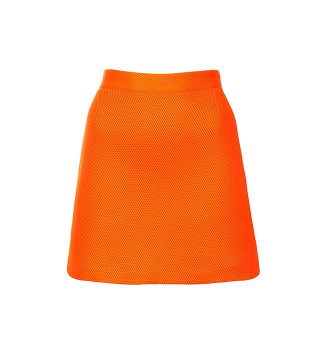 Topshop Airtex Foam Mini Skirt