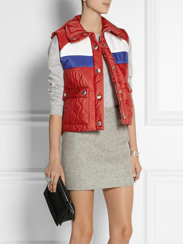 Miu Miu Hooded Quilted Shell Vest
