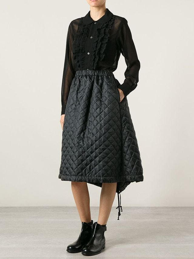 Comme Des Garcons Shirt Quilted Skirt
