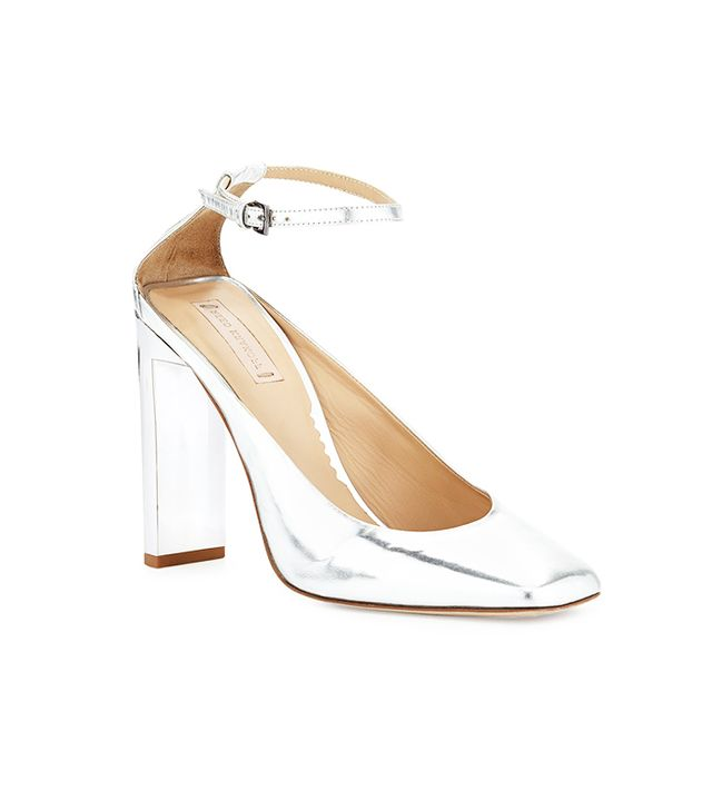 Reed Krakoff Metallic Slide-Heel Pumps