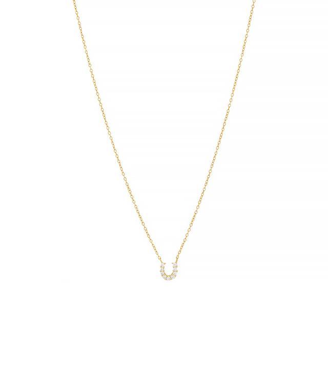 Jules Smith Pavé Crystal Horseshoe Necklace
