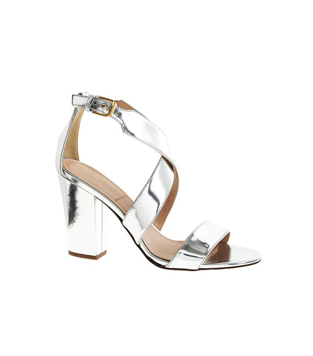 J.Crew Callie High-Heel Metallic Sandals