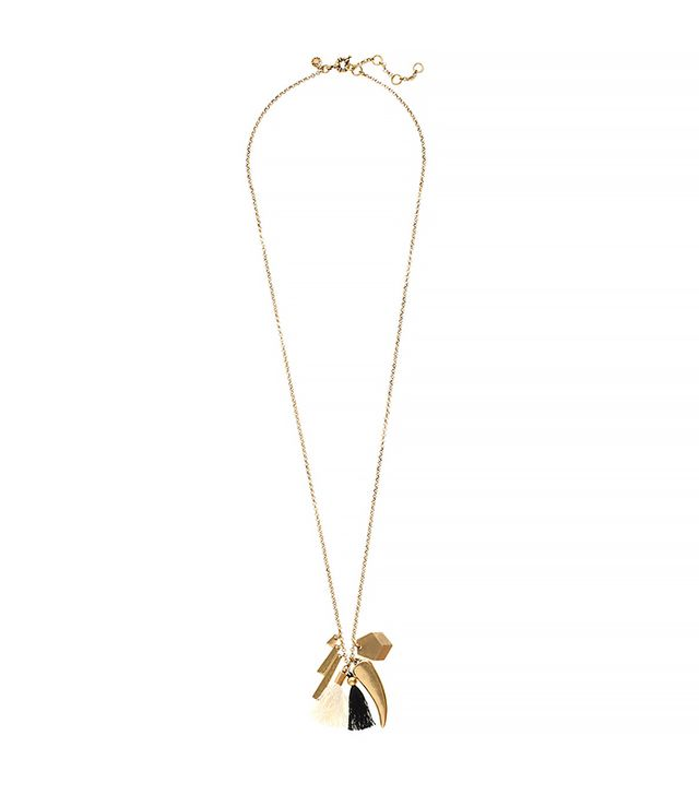 J.Crew Charm and Tassel Pendant Necklace