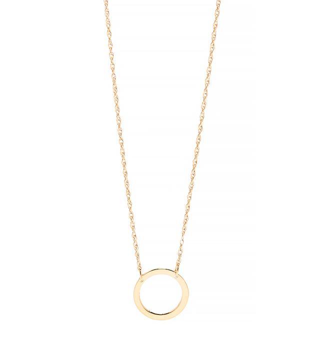 Jennifer Zeuner Small Open Circle Necklace