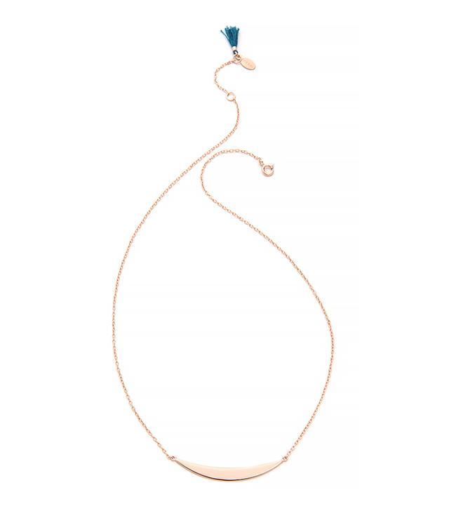 Shashi Half Moon Necklace