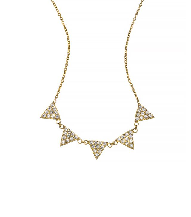 Max & Chloe Blu Bijoux Crystal Spike Necklace