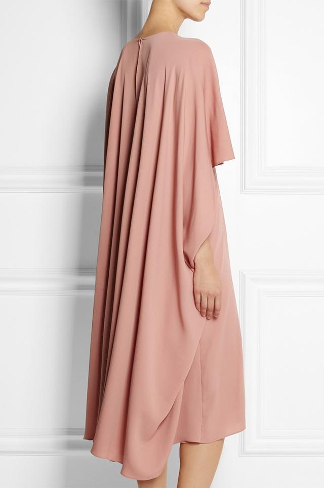 Valentino Silk Cape-Back Dress