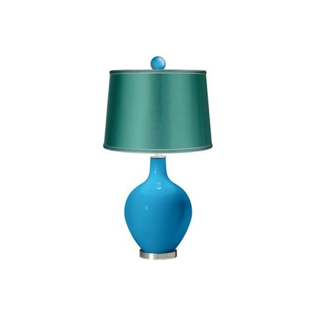 Lamps Plus Ovo Lamp with Color Finial