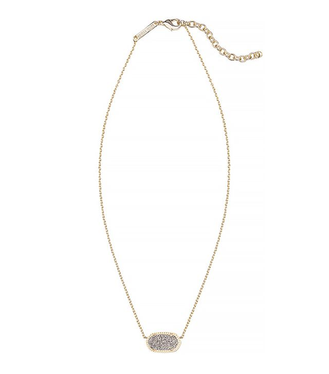 Kendra Scott Elisa Gunmetal Druzy Necklace