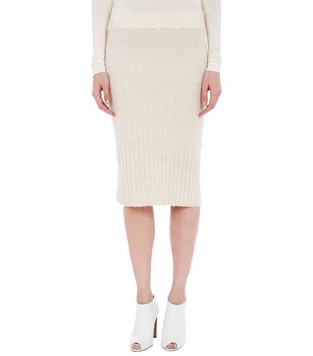 Edun Boucle Rib-Knit Pencil Skirt