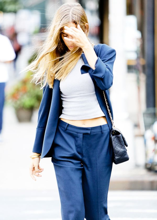 Relaxed Blazer + Cropped Tank