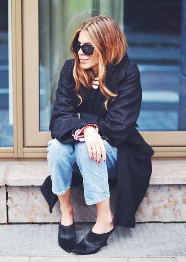 Cropped Jeans + Fancy Mules