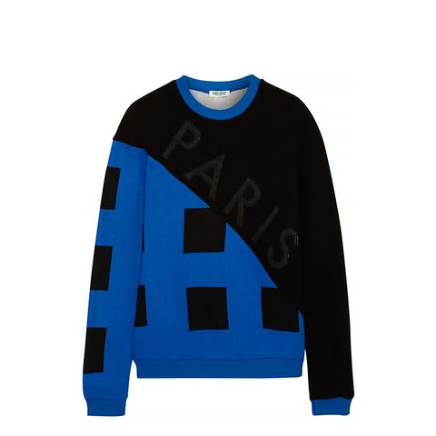 Appliqued Cotton-Jersey and Twill Sweatshirt