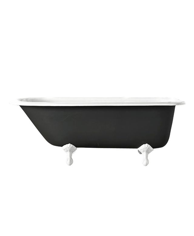 Rejuvenation Clawfoot Tub With Black Exterior