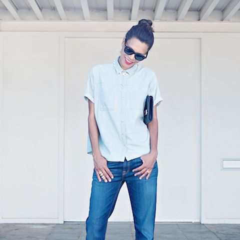 Chambray Shirt + Boyfriend Jeans