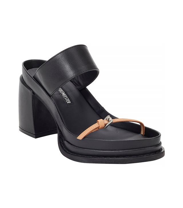 Ann Demeulemeester Wide-Band Platform Sandals