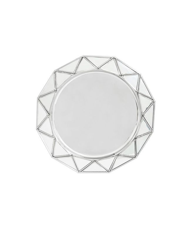 Pottery Barn Mirror Faceted Charger