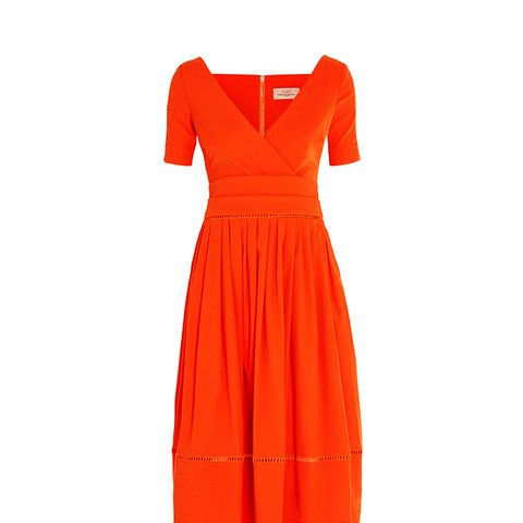 Robin Pointelle-Trimmed Stretch-Crepe Dress