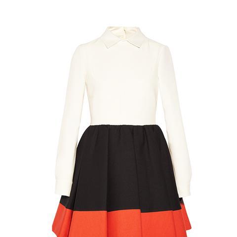 Wool and Silk-Blend Mini Dress
