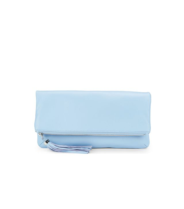Black Sasha Flapover Clutch