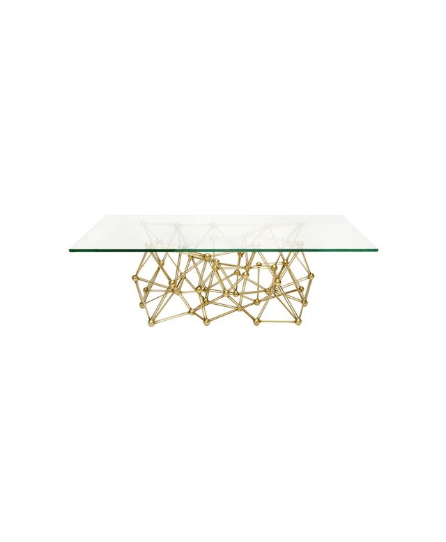 Zinc Door Worlds Away Molecule Gold Leaf Iron Coffee Table