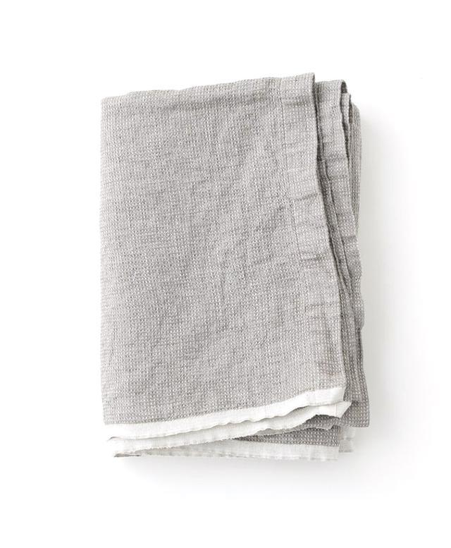 Fog Linen Washed Waffle Blanket