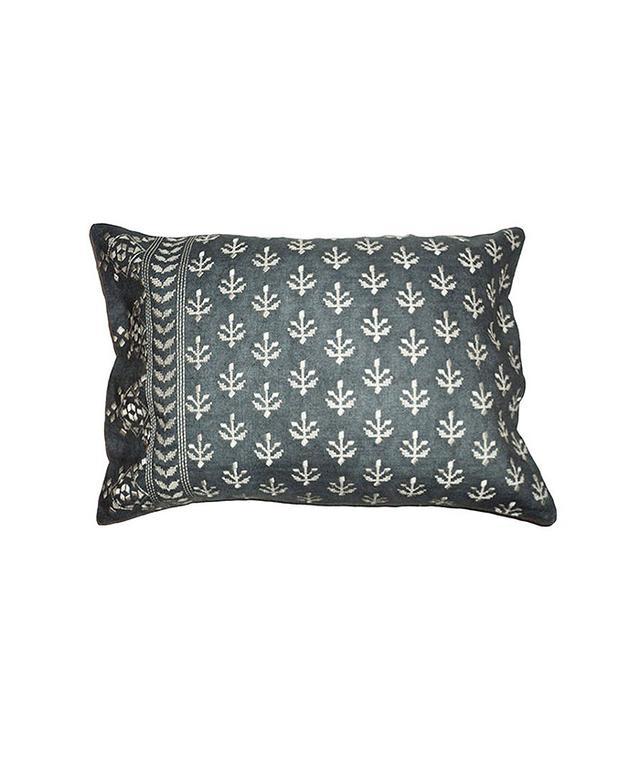 Canvas Home Hand-Dyed Linen Cross Stitch Pillow