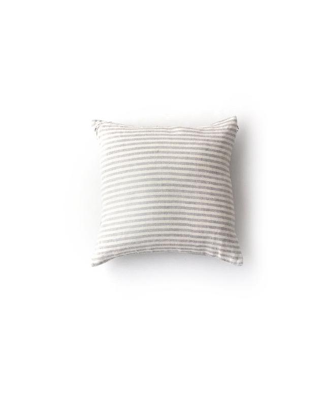 Fog Linen Cushion Cover: Natural Stripe