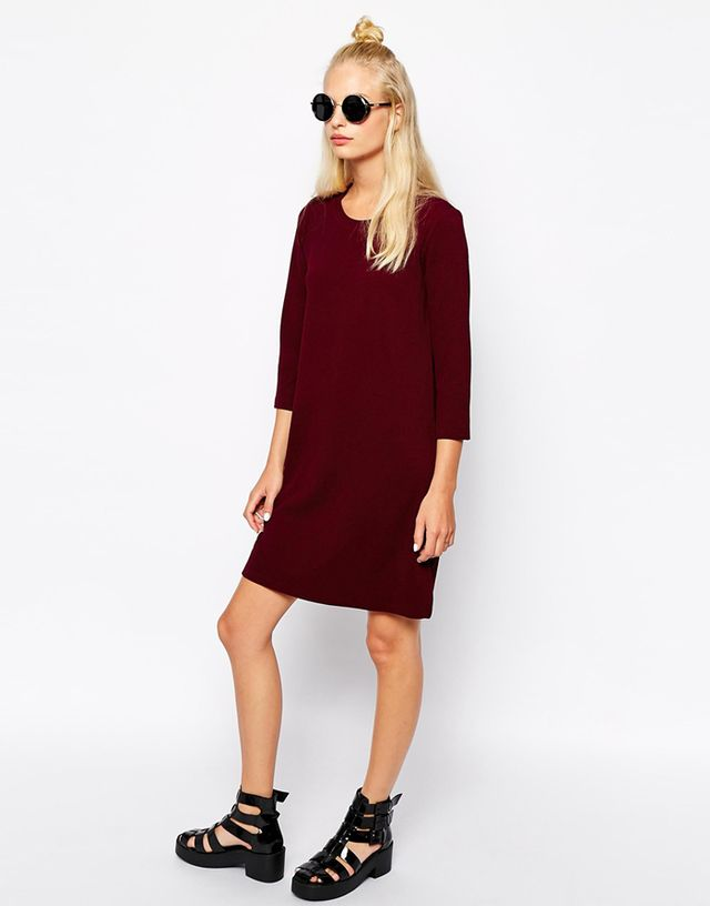 Monki Exclusive ¾ Sleeve Knitted Dress