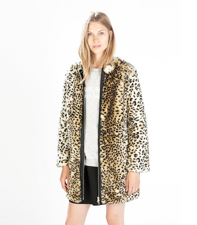 Zara Animal-Print Coat