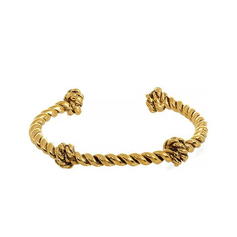 Knotted Gold-Plated Cuff