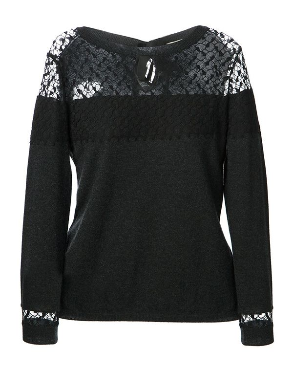 Nina Ricci Lace Panel Sweater