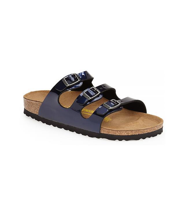 Birkenstock 'Florida' Metallic Birko-Flor™ Sandal