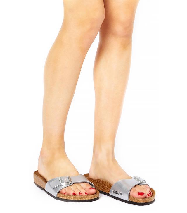 Birkenstock Madrid Flat Silver Sandal