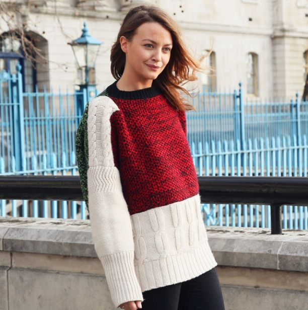 Street Style: Color-Block Sweaters