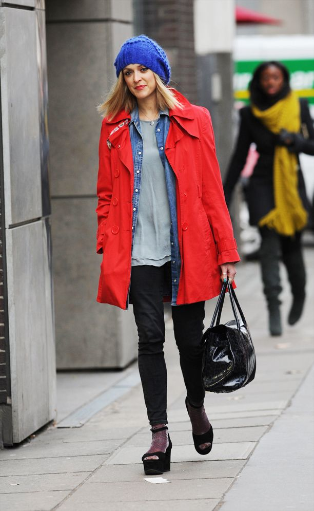 Look of the Day: Bright Outerwear