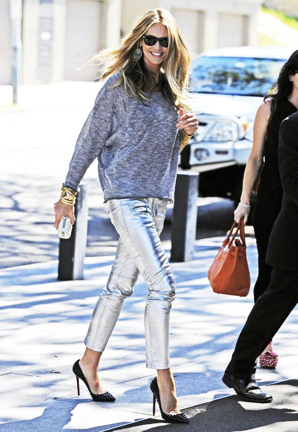 Look of the Day: Metallic Pants