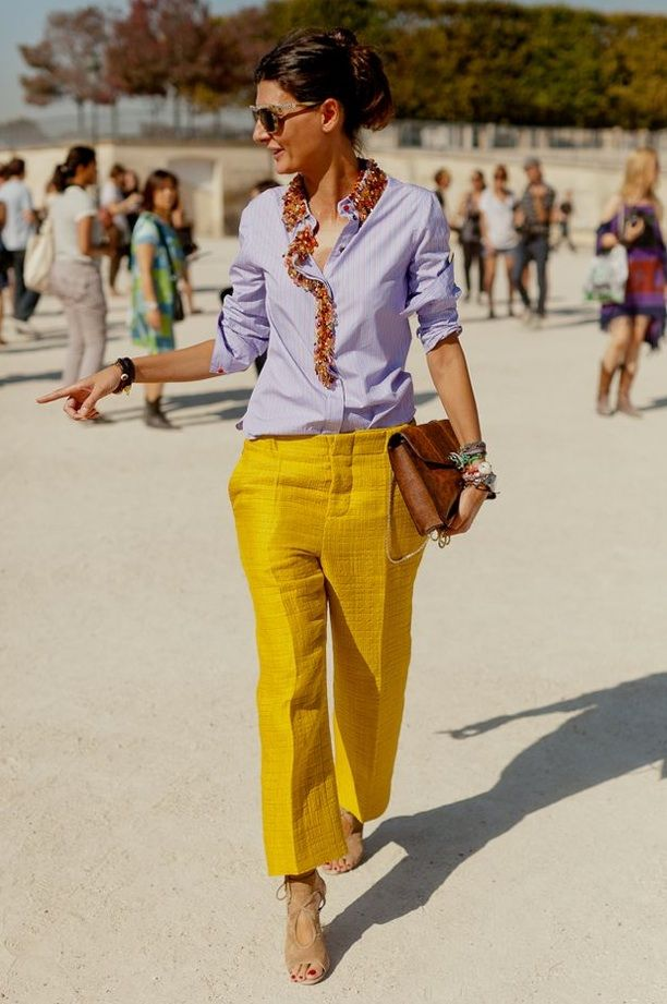 STREET STYLE: YELLOW PANT