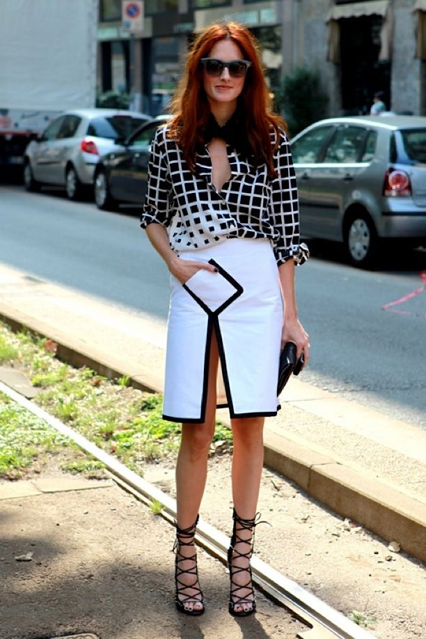 Street Style: Graphic Square Print