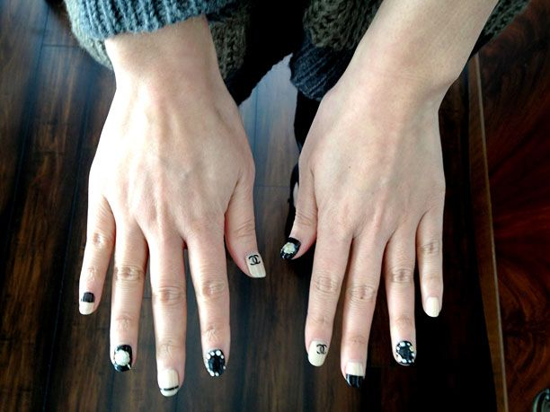 Office Inspiration: Chanel-Inspired Nails