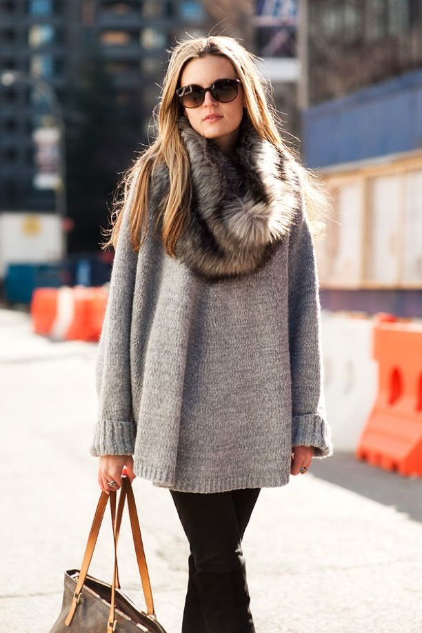 Street Style: Oversized Sweaters | WhoWhatWear