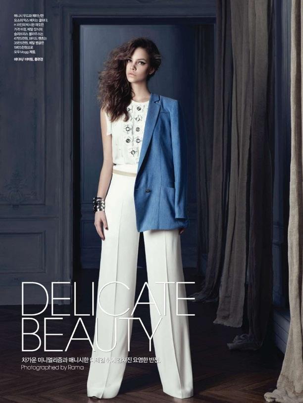 Delicate Beauty | Harper's Bazaar Korea