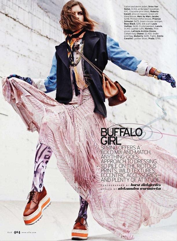 Buffalo Girl | ELLE Magazine