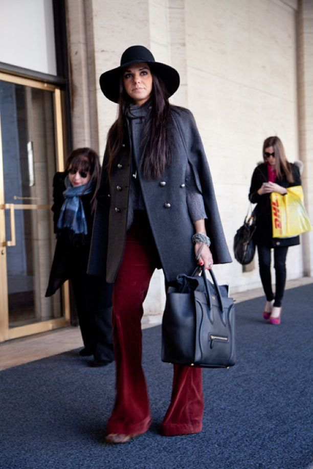 NYFW Street Style: Long Lines, Leather Tote + a Hat