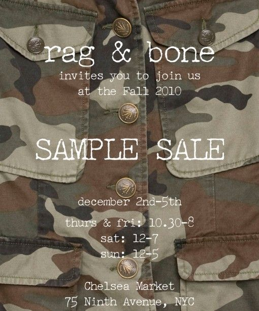 Rag & Bone Sample Sale