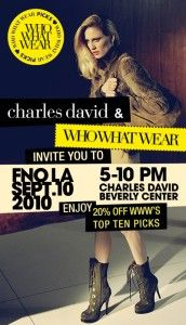 Fashion's Night Out: Who What Wear + Charles David