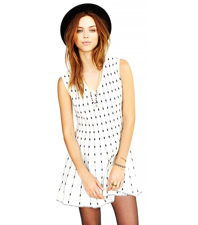 JOA Knit Dot Print Dress