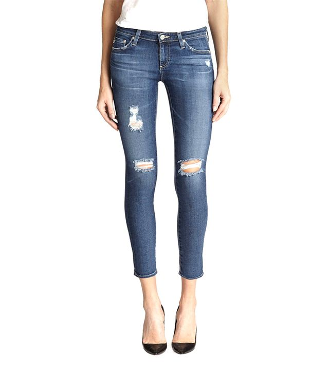 AG Adriano Goldschmeid Distressed Legging Ankle Jeans